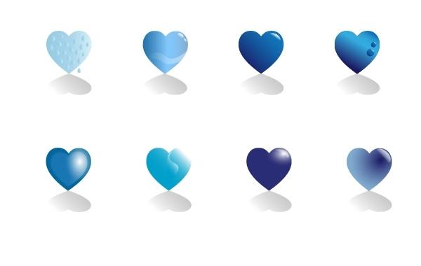 Free Blue hearts