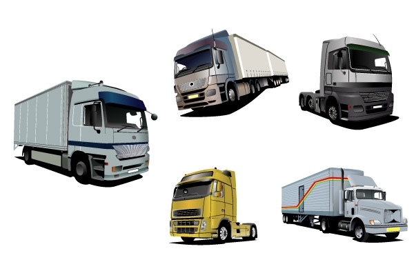 Free Vector trucks set