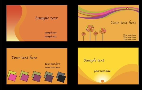 Free Orange business cards