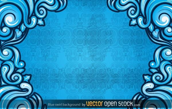 Free Blue Swirl Background