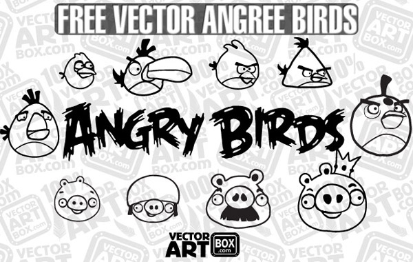 Free Vector Free Sketch Angry Birds