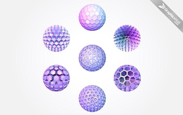 Free 3d Polygonal Sphere Vector