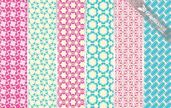 Free 6 Tileable Vector Patterns