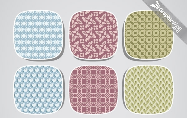 Free 9 Fresh Seamless Vector Pattern