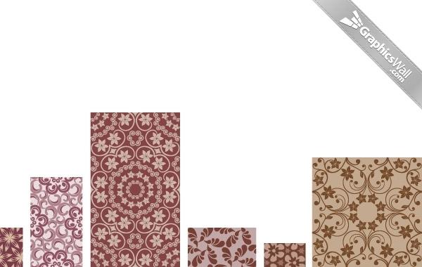 Free Floral Vector Pattern Set 04