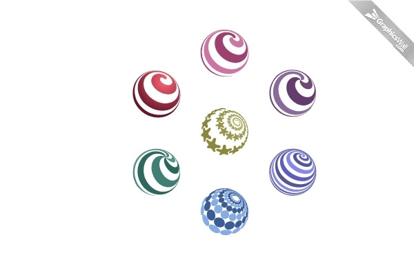 Free 7 Free Spiral Vector Spheres