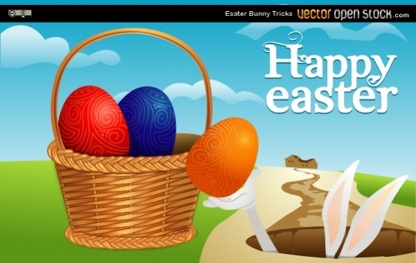 Free Vectors: Easter Bunny Tricks | Vector Open Stock