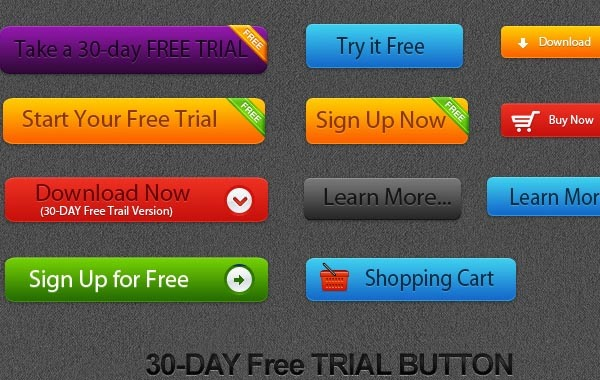 Free Free Vector Trial Button