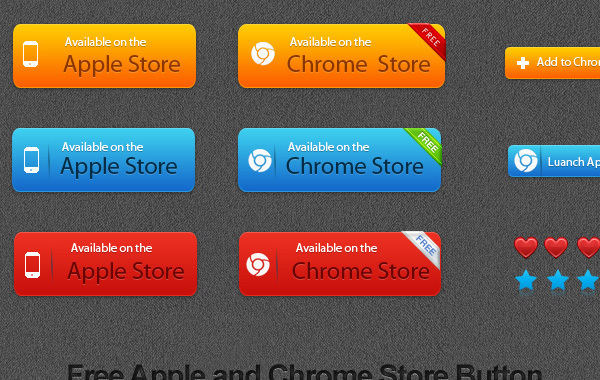 Free Free Apple and Chrome Store Vector Button