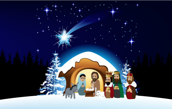 Free Christmas Nativity Scene 2