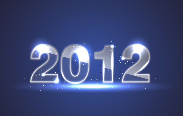 Free Blue New Year Background