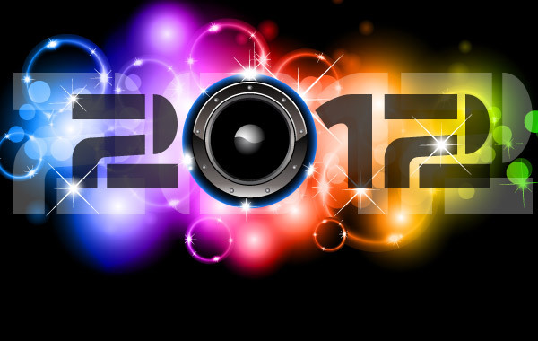 Free Happy New Year 2012 Vectors