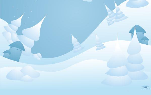Free Vector Snow Landscape