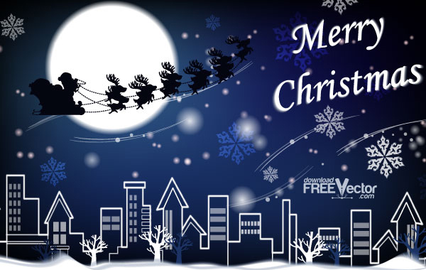 Free Vector Picture Christmas Card