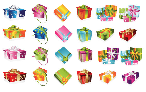 Free 24 colorful gift Boxes