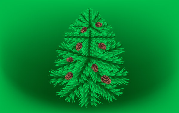 Free Vectors: Fir Christmas Vector Tree | Great