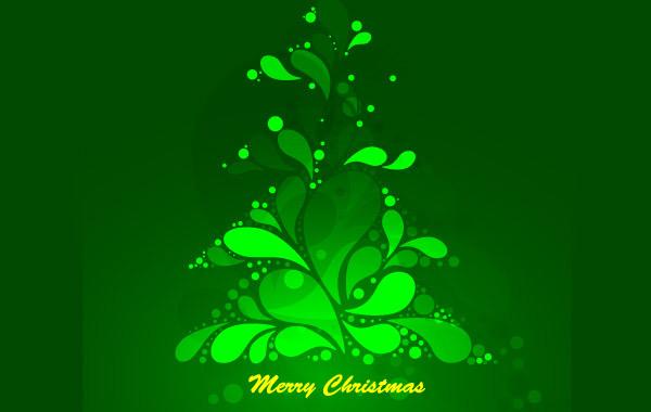 Free Abstract Green Christmas Tree