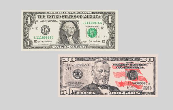 Free Vectors: Vector Free Dollar Banknotes | vectorartbox