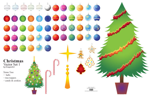 Free Christmas Vector Set1
