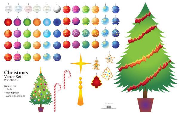 Free Christmas Vector Set1