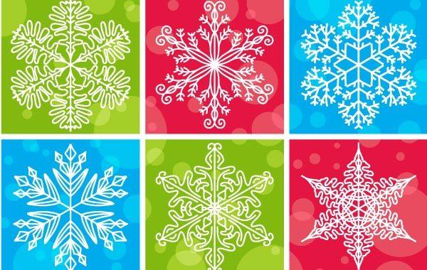 Free Snowflake pattern vector design