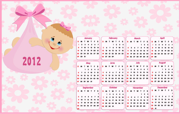Free Beautiful 2012 Calendar