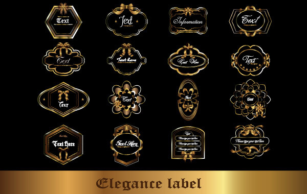 Free Vector gorgeous bottle stickers.