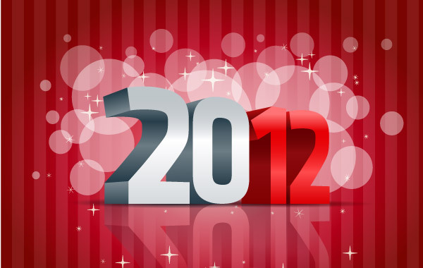 Free 2012 Happy New Year Vector Illustration