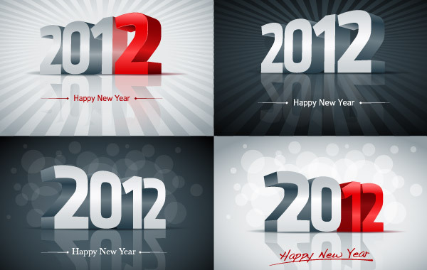 Free 2012 New Year Vector Graphics