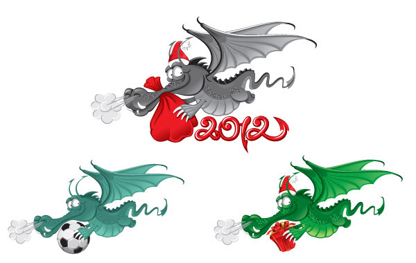 Free New Year dragon 2012 vector