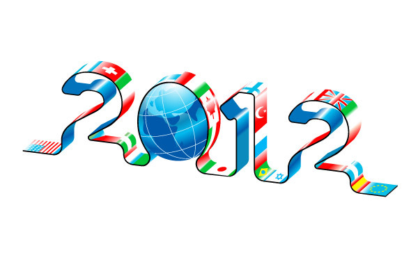 Free New Year 2012 World Maps