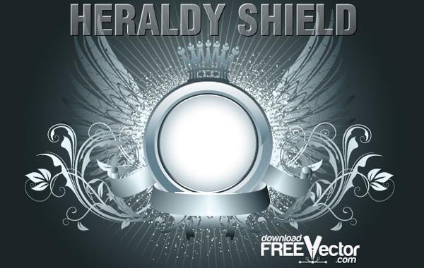 Free Free Vector Heraldry Shield.