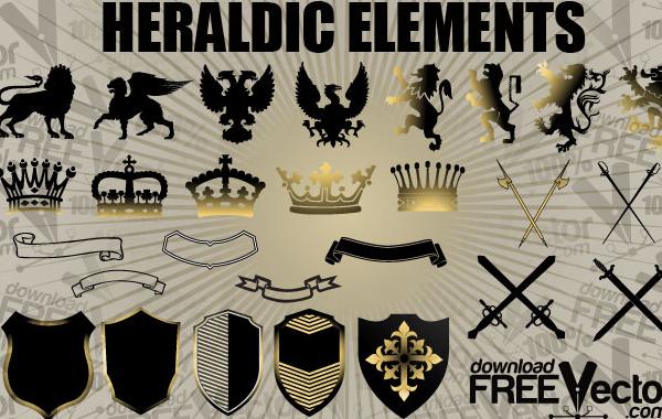 Free Free Vector Heraldic Elements