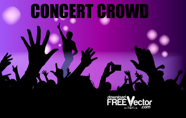 Free Free Vector Concert Crowd