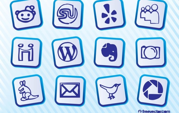 Free Vectors: Social Media Icon Pack | Free Vector