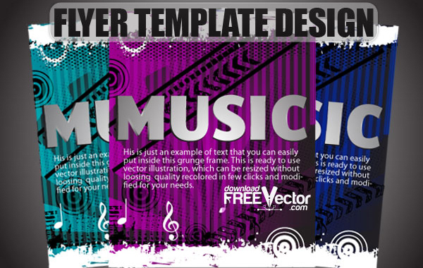 Free Free Vector Flyer Template Design