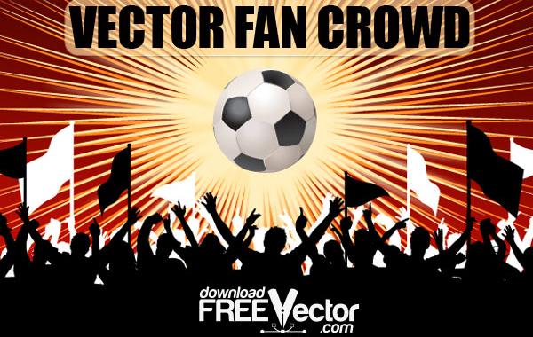Free Free Vector Fan Crowd