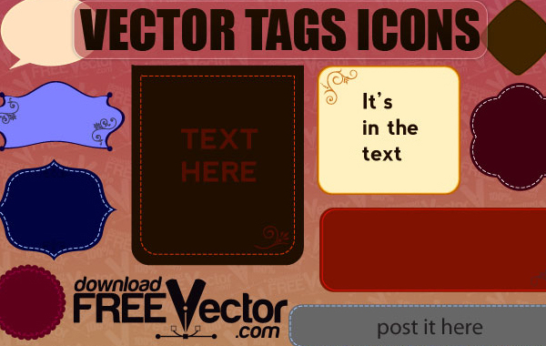 Free Free Vector of Tags Icons