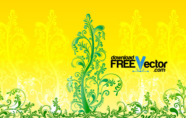 Free Vector Floral Tree