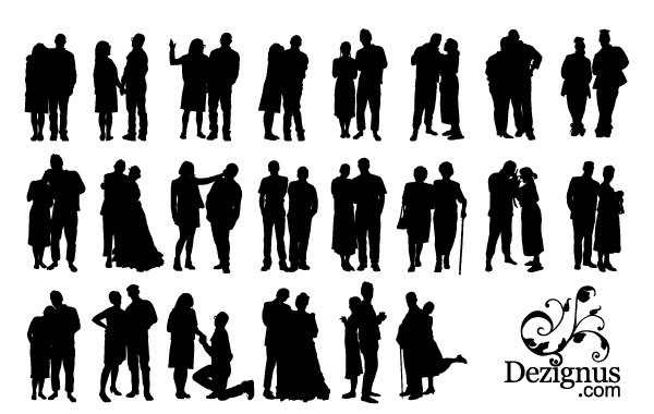 Free Couple Silhouette Clipart