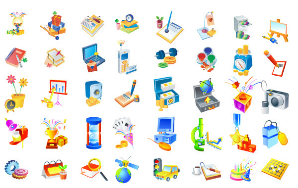 Free Isometric Vector icons