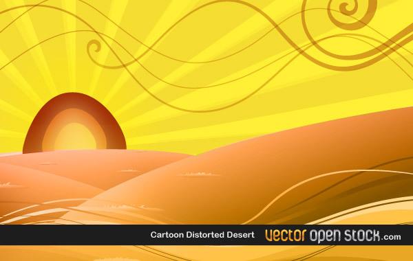 Free Cartoon Distorted Desert