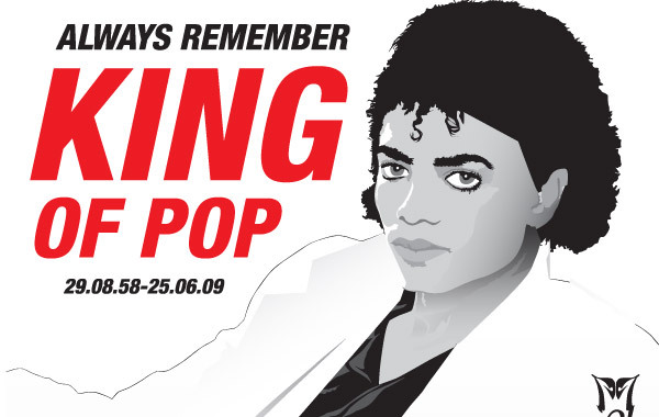 Free Michael Jackson vector illustration rip