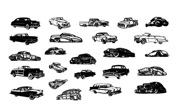 Free Vector Retro Cars