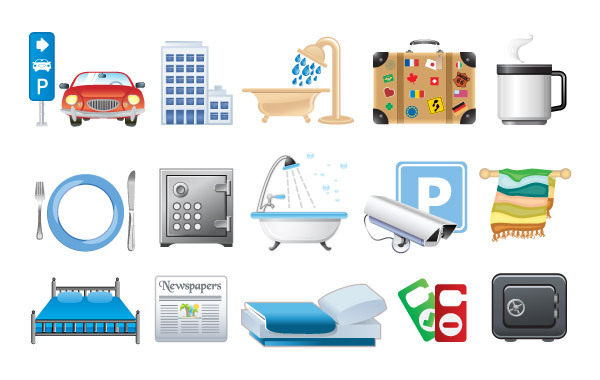 Free Hotel icons in vector format