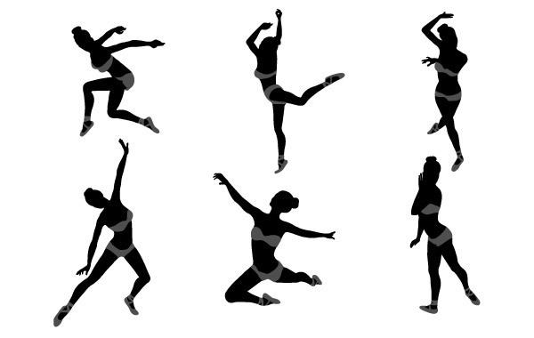 Free Dancing Girl Silhouettes