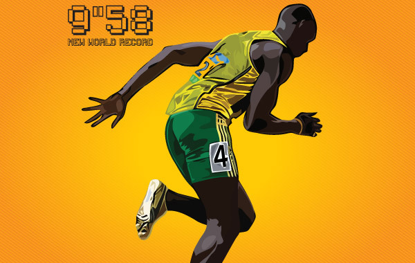 Free Usain Bolt New World Record 9.58