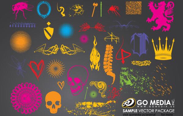 Free Vectors: Beautiful Go Media Freebies Pack | GoMedia