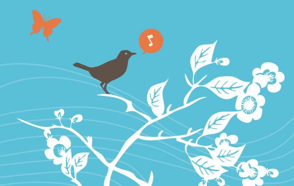 Free Cute Vector Spring Bird