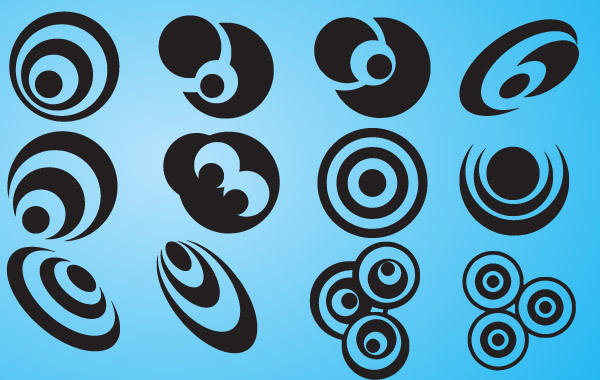 Free Abstract Design Circles Icon Set